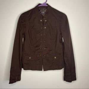 Apt 9 Brown Button Blazer Womens Medium